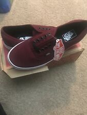 Vans Men Shoes Canvas Classic Authentic Port Royal Burgundy Cardinal Red Sneaker