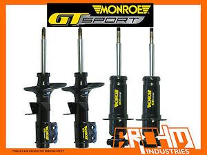 VE V6 COMMODORE SEDAN - MONROE GT SPORT F&R LOWERED (SHORT) STRUTS/SHOCKS