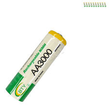 10 x AA 2A 3000mAh Ni-MH 1.2V Volt Rechargeable Battery Green BTY LR06 HR6