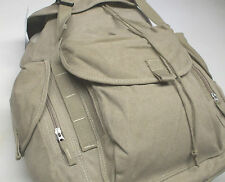 Back Pack, Classic Design, Large Capacity Cotton Canvas Light and Strong Khaki