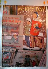 EDIZIONE LIMITATA TEA ASCIUGAMANO con immagine originale di vecchi libri di Natale