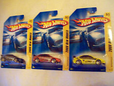 2008 Hot Wheels Mainline FE Ford Focus Variation Set of 3 Cars as Pictured