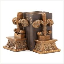 Nice Set of Fleur de' Lis Bookends For Your Home, Office or Study!! New in Box