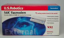 U.S. ROBOTICS 56k V.92 External Serial Data Faxmodem USR5686D - NEW old stock