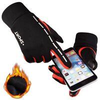 Running Gloves Waterproof Men Women Warm Fleece Winter Run Outdoor Sport Gloves