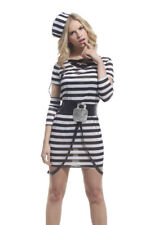 Halloween Prisoner Costume Womens Cosplay Party Fancy Dress Outfit