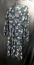 Banned retro FLoral WW2  floral dress RRP £44 S UK 10
