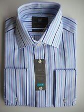 bca4c395b6b8 Men s Marks   Spencer Purple Mix Stripe Cotton Long Sleeve Shirt Collar 15
