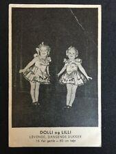 "Vintage Circus Postcard - Danish Midget Act - ""live Dancing Dolls"" Circus Moreno"