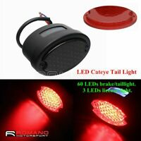 Motorcycle LED Taillight Cat Eye Vintage Tail Light Brake Stop Lamp For Harley