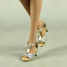 1/6 Scale Phicen, Hot Toys, Kumik, FG - Female Sexy Silver Glittering Heel Shoes