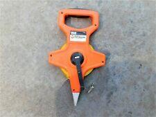 Master Mechanic Open Reel 100 foot Tape Measure Fiberglass Blade NICE!