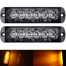 2X Yellow Flashing Recovery Strobe LED Orange Grill Breakdown Light Beacon