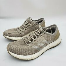 Adidas Pure Boost Clima Men Brown Tan Athletic Running Shoes Size 8.5
