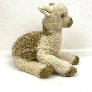 Vintage Dakin Llama Luella Alpaca Gray Long Pile Stuffed Animal Plush Lawanna