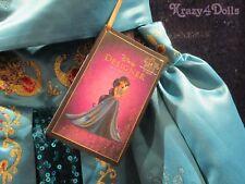 Disney Designer Fairytale Princess Jasmine Deluxe Girls Costume Dress 7-8 New!