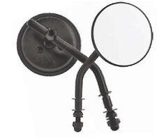 18-024BK  3' ROUND BLACK MIRROR SET HARLEY FXDL FLHT FLHX XL883 XL1200 FXDL FLST