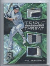 2017 PANINI CHRONICLES RC SPECTRA TRIPLE THREAT PATCH HUNTER RENFROE /25 PADRES