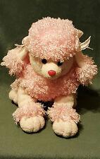 "Aurora Pink Poodle Puppy Dog Hand Puppet 11""  Plush Soft Toy Stuffed Animal"