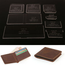 WUTA Acrylic Short Wallet Template Leather Craft Tool Coin Case Pattern 891