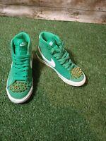 Vintage Nike Blazer Mid PRM Green Suede Size 3.5 UK Eur 36.5