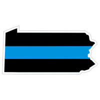 Pennsylvania PA State Thin Blue Line Police Sticker / Decal Made in U.S.A.