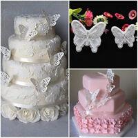2 pcs/lot Butterfly Shape Cake Mold 2 Sizes Plastic Fondant DIY cake decorating