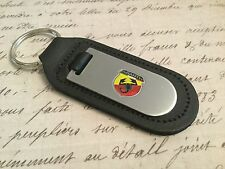 FIAT ABARTH 500 Key Ring Etched and infille On Leather