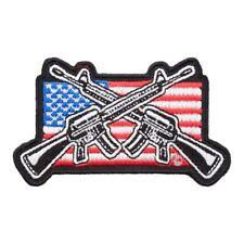 M16 Guns American Flag Patch, Patriotic US Flag Patches