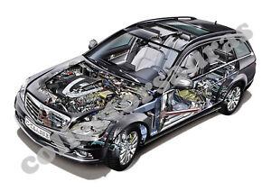2008 Mercedes-Benz C350 Estate - Cutaway View  - A4 Print ONLY