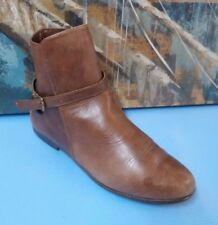 CARLOS SANCHEZ 7329 SHOES WOMENS BROWN ANKLE BOOTS SIZE 8M