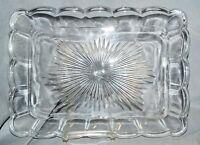 Platte Tablett Pressglas, 30 cm