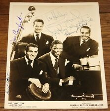 NAT KING COLE TRIO FULLY HAND SIGNED BEAUTIFUL 10x8 PUBLICITY PHOTO UACC DEALER