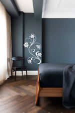 Floral Flower Wall Art Stickers Vinyls Decals Home Decorations Staircase D2
