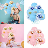 14pcs Its A Boy/Girl Balloons Set Latex Confetti Balloon Baby Shower Party Decor
