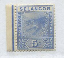 Malaya Selangor 1891 5 cent blue Tiger mint o.g.