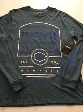 New Hurley Mens Graphic Tee Street Long Sleeve T Shirt Size Large Retail $35