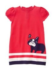 NWT Gymboree Girls CIAO PUPPY Sweater Dress Bow Size 3T