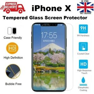 Shatter Proof Bubble Free Tempered Glass Screen Protector for iPhone X Xs 10 10s