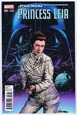 Star Wars Princess Leia #1 Variant Signed w/COA Terry & Rachel Dodson VF/NM 2015