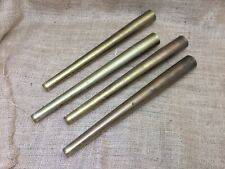 Vintage Show / Display Case Legs (4) ~ Brushed Gold Tone Hollow Steel ~ Heavy