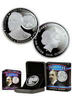 """2015 """"Adolph A. Weinman, Sculptor"""" Tuvalu Proof $1 Silver Coin ANA Issue w/ Box"""
