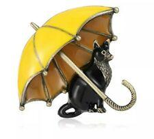 Brosche ? Katze  Anstecknadel Pin emaliert Neu!