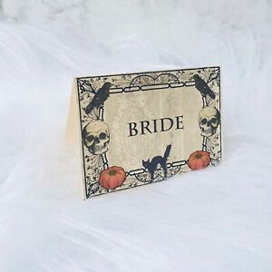 Spooky Halloween Place Name Cards Party Wedding set of 10