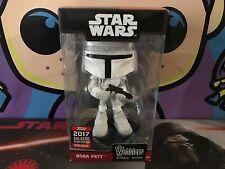 Star Wars Celebration Galactic 2017 Funko Wobblers - White Boba Fett