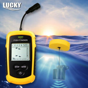 Portable Fishfinder Handheld Sonar Alarm Echo Sounder Transducer Outdoor Fishing