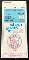 1986 WORLD SERIES GAME 3 TICKET STUB NEW YORK METS VS BOS RED SOX FENWAY PARK