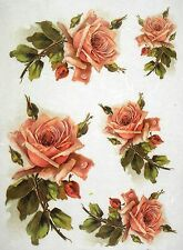 Rice Paper for Decoupage Scrapbook Craft Sheet Beautiful Roses