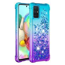 Back Case For Samsung Galaxy A51 A71 A81 A91 A01 A21 Glitter Liquid TPU Cover