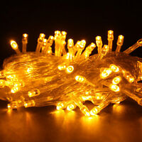 15M 200 LED Yellow String Fairy Tree Lights Party Christmas Xmas Outdoor Lamp US
